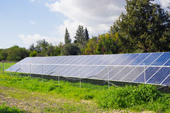 Solar panel produces green, environmentally friendly energy from the sun. Stock Image