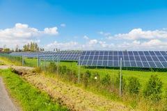Solar panel produces green, environmentally friendly energy from the sun. stock photos