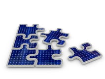 Solar panel puzzle Royalty Free Stock Photo
