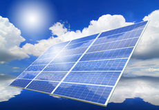 Solar Panel with reflection of blue sky Royalty Free Stock Image