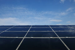 Solar panel renewable energy field Stock Photography