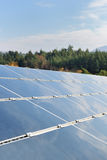 Solar panel renewable energy field Stock Image