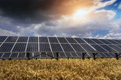 Solar panel and renewable energy Stock Images