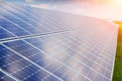 Solar panel and renewable energy Stock Image