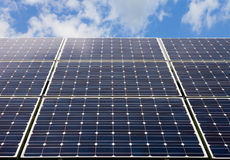 Solar panel and renewable energy Stock Photos