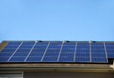 Solar panel on the roof Stock Photos