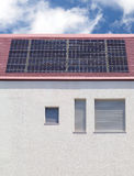 Solar panel roof. On house Royalty Free Stock Images