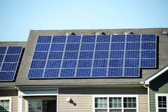 Solar panel on the roof. Installed solar panel on the roof Stock Image