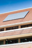 Solar panel on roof of office building. With the blue sky in sunny day royalty free stock photos