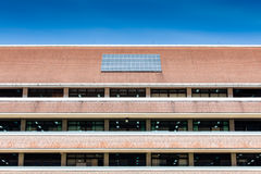 Solar panel on roof of office building. With the blue sky in sunny day Stock Images