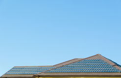 Solar panel on the roof Royalty Free Stock Photos