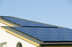 Solar panel on the roof Royalty Free Stock Images