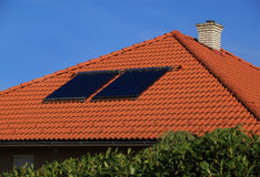 Solar panel on roof Royalty Free Stock Photography