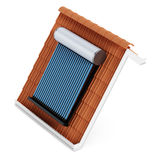 Solar panel on roof tile Stock Images
