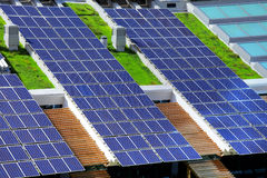 Solar panel on roof top Royalty Free Stock Image