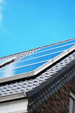 Solar panel on the rooftop Royalty Free Stock Image
