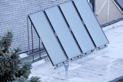 Solar panel on the rooof Royalty Free Stock Photos