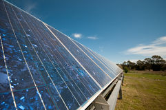 The Solar Panel Series. Solar panel on a property used to power self sufficient living.  Part of a series Royalty Free Stock Images