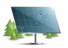 Solar panel set. In the nature Royalty Free Stock Photos