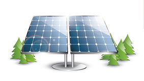 Solar panel set. In the nature Royalty Free Stock Photo