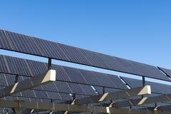 Solar panel. Shot of solar panel against clear blue sky Stock Image