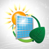 Solar Panel Shows Go Green And Environmentally Stock Photos