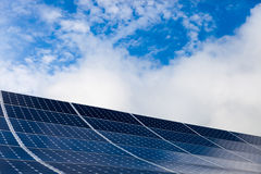 Solar Panel with sky on background Royalty Free Stock Photos