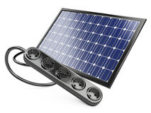 Solar panel with socket Stock Image