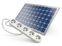 Solar panel with socket Stock Photos