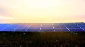 Solar energy panels . royalty free stock photography