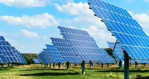 Solar energy panels . stock images