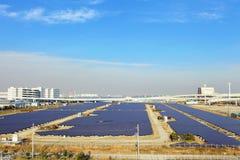 Solar panel station Stock Photo
