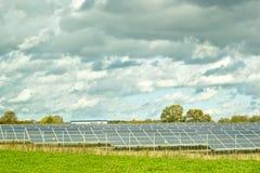 Solar panel station Royalty Free Stock Image
