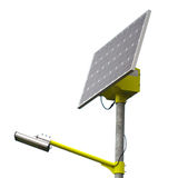 Solar panel street illumination Stock Images