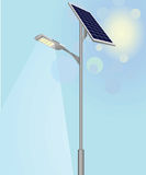 Solar panel. Street light vector energy saving concept Royalty Free Stock Images