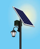 Solar panel. Street light vector , energy saving concept Royalty Free Stock Photo