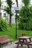 Solar panel street lighting Stock Photography