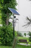 Solar panel street lighting Stock Images