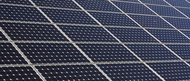 Solar panel structure Royalty Free Stock Image