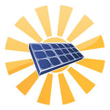 Solar Panel and Sun Concept Royalty Free Stock Image