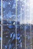 Solar panel, sun flare Royalty Free Stock Image