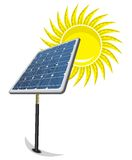 Solar Panel and sun. Vector illustration of the Solar Panel and sun Royalty Free Stock Photo