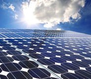 Solar panel on a sunny day Royalty Free Stock Photos