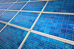 Solar panel on a sunny day Stock Images