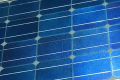 Solar panel surface. Close up of the surface of a solar panel Stock Image