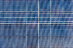Solar panel surface closeup outdoor Royalty Free Stock Photos