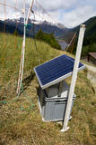 Solar panel in the Swiss Alps Stock Image
