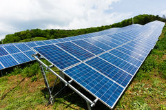 Solar panel system Stock Photos