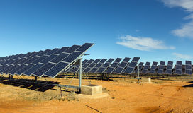 Solar panel system. Energy production at Spain stock image