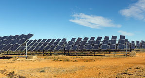 Solar panel system. Technology of energy production: solar panel system royalty free stock images